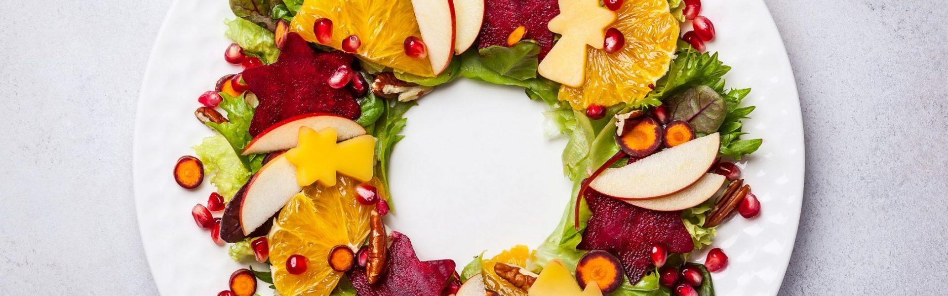 Vianočné ovocné šaláty